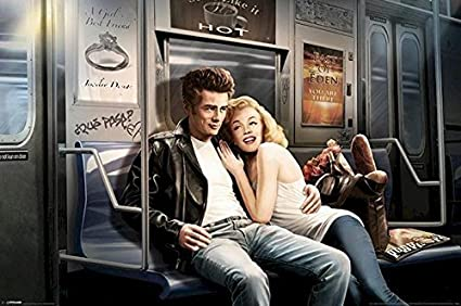 Amazoncom Buyartforless Subway Ride James Dean And Marilyn Monroe