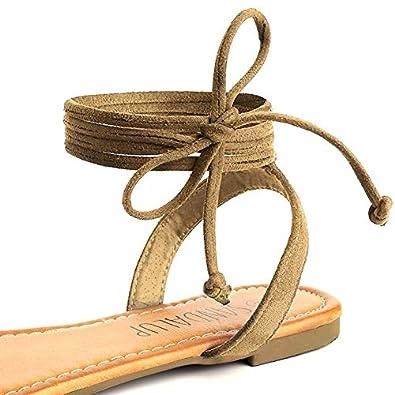 SANDALUP Sandali da Donna con Cinturino in Flanella