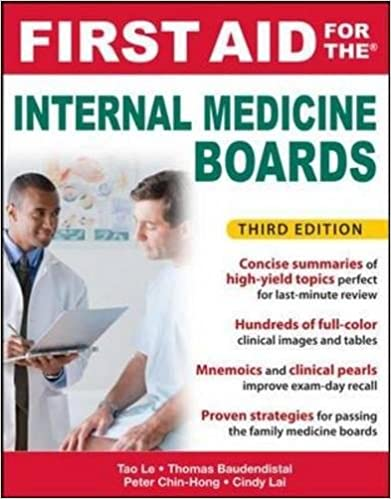 Kết quả hình ảnh cho First Aid for the Internal Medicine Boards – 3rd Edition