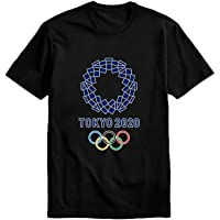 JAYVEE 2020 Tokyo Olympics T-Shirt Print Short-Sleeved Round Neck Cotton T-Shirt for Men and Women Ideal for The Olympic Games