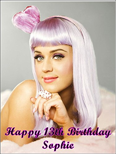 Incredible A4 Katy Perry Personalised Edible Icing Birthday Cake Topper Birthday Cards Printable Inklcafe Filternl