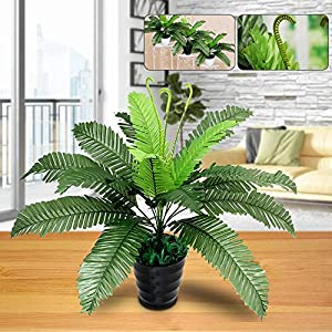 yanQxIzbiu Artificial Plants,Artificial Flowers,1Pc Artificial Foliage Plant Green Fern for Office Home Garden Wedding Decoration 109