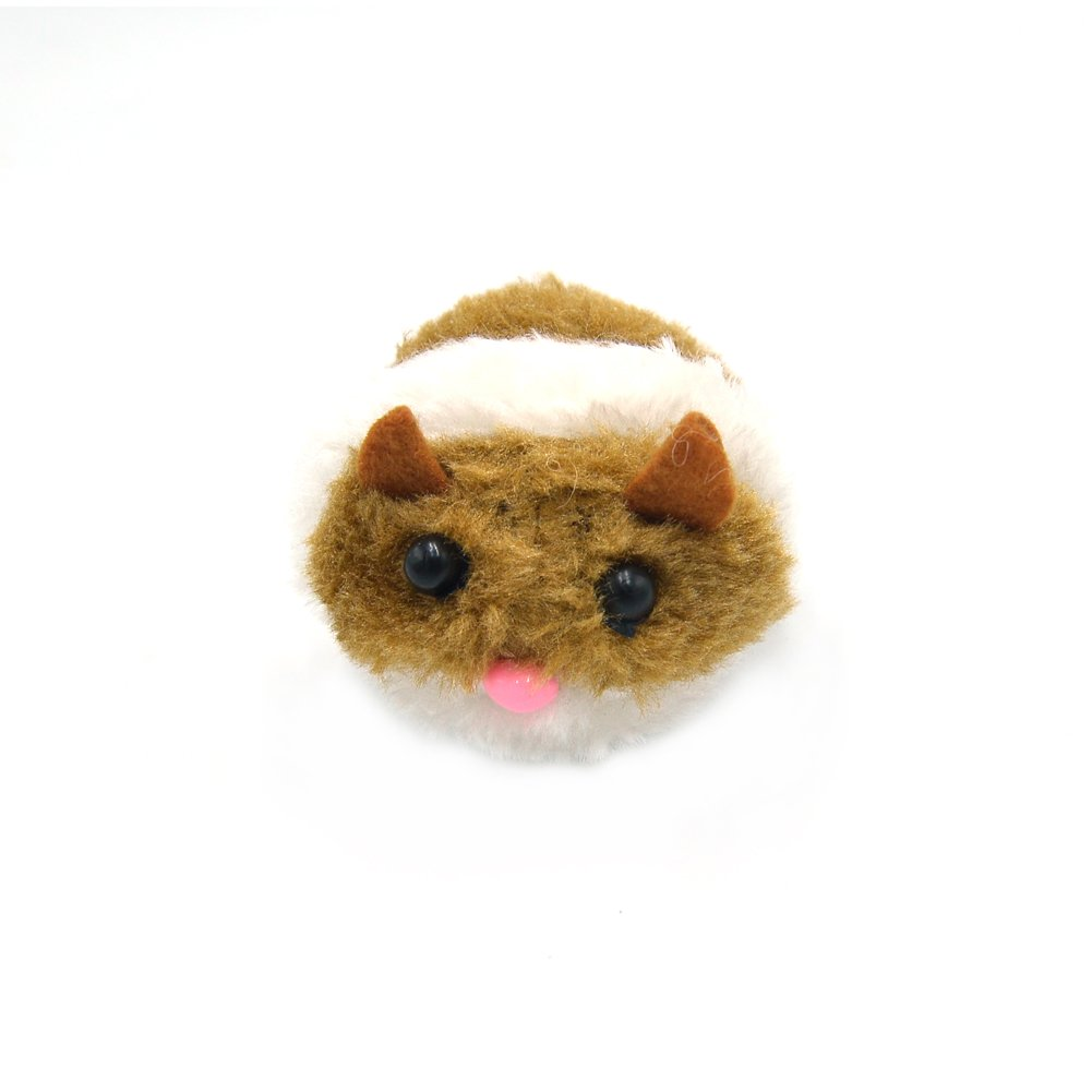 Wildgirl Funny Pet Puppy Toy Cat Playing Toy Shaking Cute Plush Fat Mouse