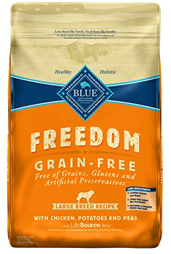 Blue Buffalo Large Breed Freedom Grain Free Chicken Recipe Dry Dog Food, 24-Pound For Sale