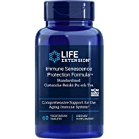 Life Extension Immune Senescence Protection Formula Standardized Cistanche Reishi Pu-erh Tea 60 Vtabs