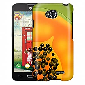 LG Ultimate 2 Case, Slim Fit Snap On Cover by Trek Cute Papaya Slice Case