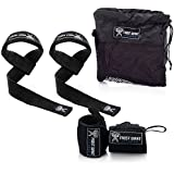 Frost Giant Fitness Weightlifting Wrist Wraps & Lifting Straps Combo By For CrossFit, Powerlifting, Home Workouts, Bodybuilding, Intense Gym Workouts- Hand and Wrist Support Equipment For Men & Women