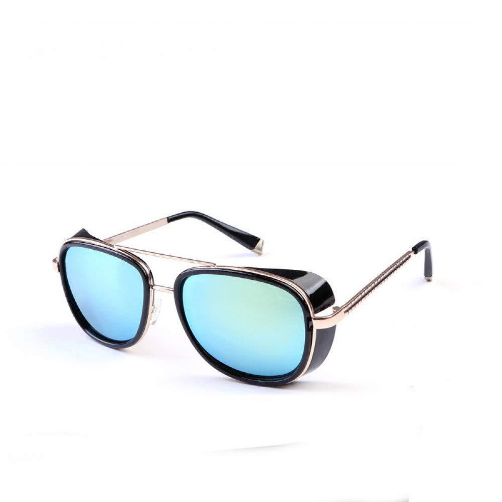 LETAM Gafas de sol Gafas de Sol Iron Man Tony Stark Gafas de Sol para Hombres Mujeres Vintage clásico Espejo