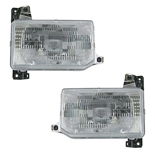 Headlights Headlamps Pair Set For Nissan D21 Hardbody Pickup Truck Pathfinder ()