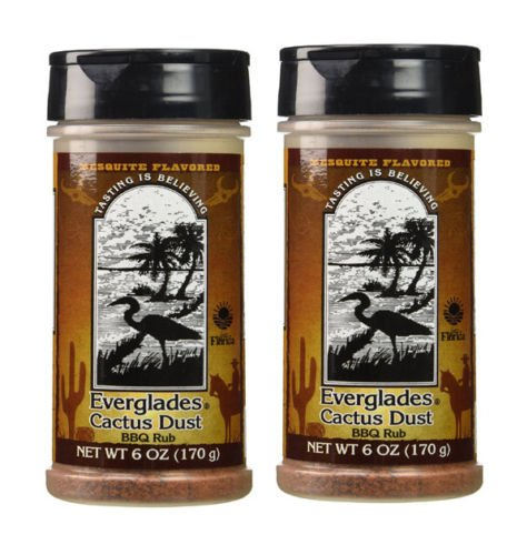 Everglades Seasoning Cactus Dust Mesquite BBQ Rub 2 Pack Gluten Free No MSG