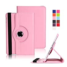 iPad Mini 4 Case, Dowswin Auto Sleep/Wake Function 360 Degree Rotating Conjoined Protective Smart Case Cover for iPad Mini 4 (Pink Case for 2015 Edition)