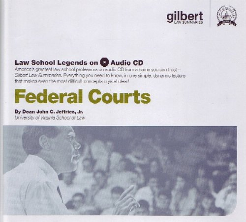 Law School Legends Audio on Federal Court (Law School Legends Audio Series)