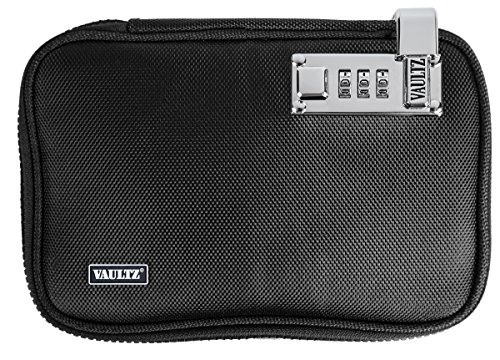 VaporVaultz Locking Plush Pouch, 1.5 x 8.5 x 6 Inches, Black (VZ00666)