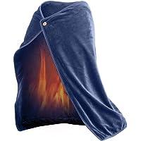 Plaid chauffant électrique USB, couverture chauffante, 100 x 70 cm, sécurité et portable, puissance 10 W, lavable en machine, micro-peluche
