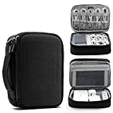 Topshion Portable Cable Organizer Bag, Water-Resistant Bag Organizes and Protects USB Drives, Memory Cards, Chargers, Cables, Cords, Adapter