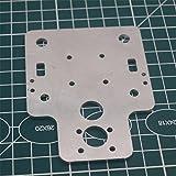 WillBest 1pcs Aluminum Alloy MGN12H Single/Double Nozzle Mount Plate for Upgrade HE3D EI3/Tarantula i3 3D Printer Dual Extrusion