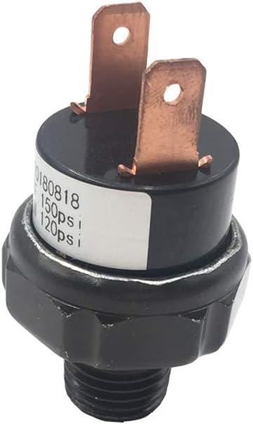 AIPICO Tank Mount Type Air Pressure Switch 120-150 PSI 12V//24V for Air Compressor Air Horns Train Horns 1//4 NPT