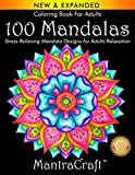 Coloring Book For Adults: 100 Mandalas: Stress