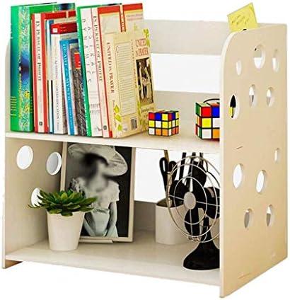 Schreibtisch Organisator Desktop-Bibliothek Organizer Weiß Ausschnitt Design Desktop Bücherregal Stationery Organisator Regal zwei Schichten Desktop-Anzeigen-Regal-Rack Briefablage