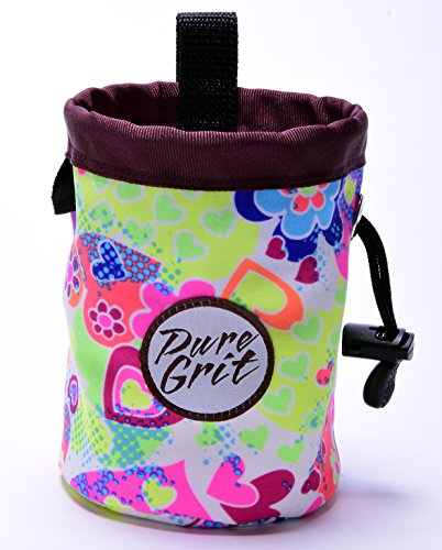 Little Kid Sized Bubble Gum Chalk Bag for 3-8 Year Olds (Usa Made) By Pure Grit by Pure Grit