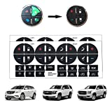 BORUD AC Button Repair Kit, 2PCS Adhesive AC Dash Button Replacement Stickers Strong Sticky Ruined Faded A/C Controls Decals for Buick Chevrolet Chevy GMC Vehicle