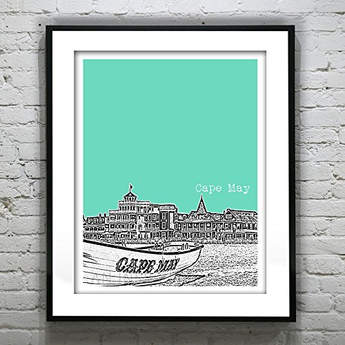 Cape May New Jersey Art Print Poster - Cape May, Nj - Version 1