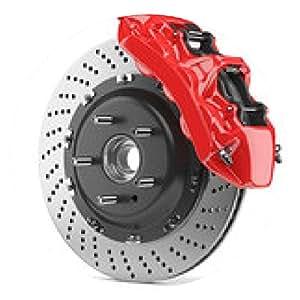 alfombrilla de ratón disco de freno del automóvil y de la pinza roja - ronda - 20cm