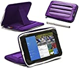 Navitech Purple 7 inch Neoprene Case Cover Sleeve With Stand & Stylus Pen For The Huawei MediaPad X1 7.0 / MediaPad 7 lite / MediaPad 7 Vogue