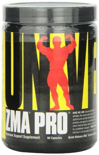 Universal Nutrition ZMA Pro Supplement - Zinc, Magnesium, Vitamin B6 - Nighttime Recovery Aid for Better Sleep - 90 Capsules ()