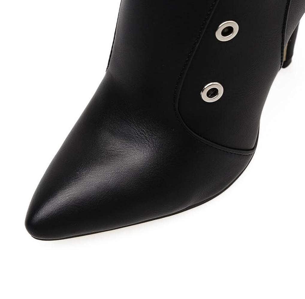 Shiney Stiefelies Stiefelies Stiefelies Frauen High-Heels 2018 Herbst Winter Nieten Stiletto Heels Fashion Single Mesh Stiefel 99aa8e