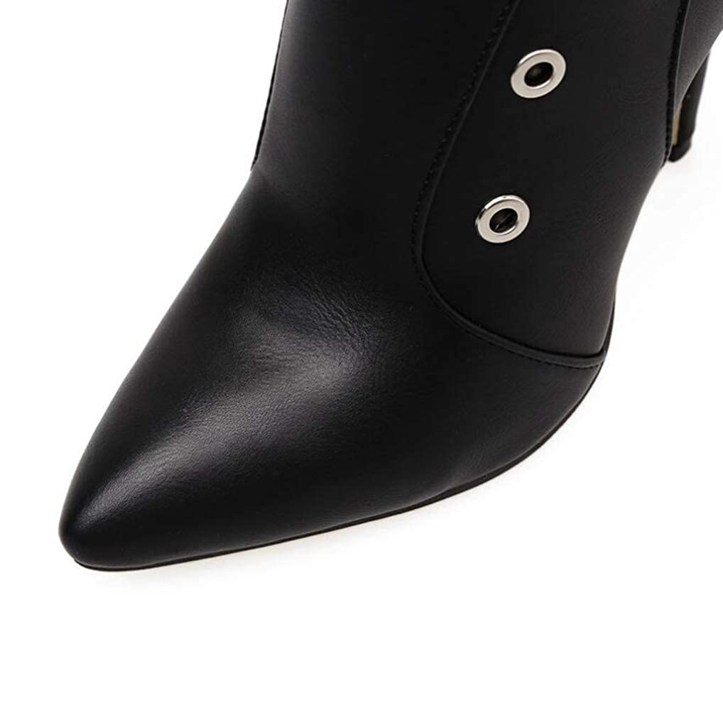 Shiney Shiney Shiney Booties Women High-Heels 2018 Autumn Winter New Rivets Stiletto Heels Fashion Single Mesh Boots B07H6ZTVPV Boots 60fc12