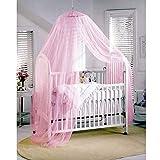 Butterme Insektenschutz Mückennetz Moskitonetz Baby Toddler Moskito Netz für Kinderbetten Himmelbett Rosa