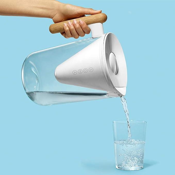 SYJYA Sin BPA Jarras De Filtro De Agua Alcalina Purificadores De Agua con 1 Cartucho De Filtro 2,4 litros Smart Cool ...