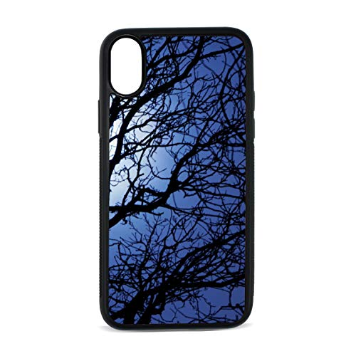 Case for Iphonex/xs Sly Dark Forest Spooky Branch Nature Halloween Gray Black Horror Atmosphere Digital Print TPU Pc Pearl Plate Hard CasePhone Accessories Compatible with Protective Case5.8Inch