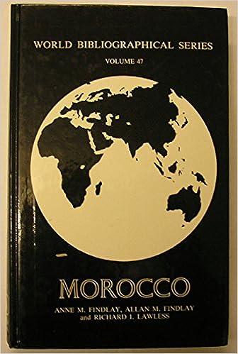 Morocco (World Bibliographical Series): Allan M  Findlay, Anne M