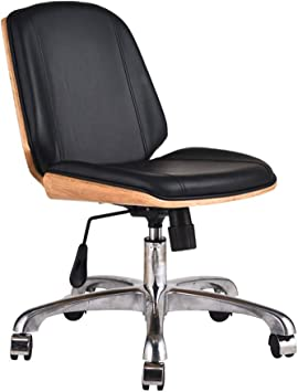 Amazon Com Office Chairs No Arms Home Computer Chair Modern Minimalist Style Study Chair Lift Rotary Chair European Boss Swivel Chair A Office Products