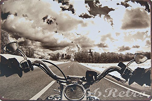 Silk Road Tin - Ride Free, Motorcycle Metal Tin Sign, Wall Decorative Sign By 66retro