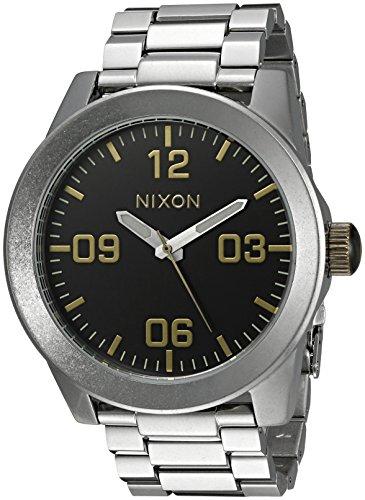 Nixon Men's A3462222-00 Corporal SS Analog Display Japanese Quartz Silver Watch ()