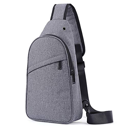 Chest Packs Cross Body Jack Headphone Tactical Sling Sport Grey With Bag Bags Backpack Lightweight Casual Triangle Shoulder UqxTpnFx