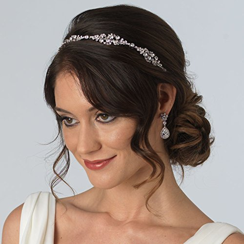 USABride Rhinestone Bridal Headband, Vintage-Style Headpiece, 3167