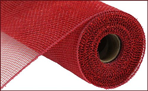 10 inch x 30 feet Deco Poly Mesh Ribbon - Value Mesh (Cranberry Red)