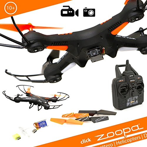 Zoopa 2.4GHz Q 420 Cruiser – 6-Axis Gyro RC Quadcopter Drone with integrated HD Camera