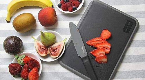 Dreamfarm Fledge - Silicone Flip Edge Cutting Board, Black