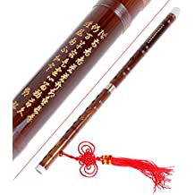 Kmise Traditional Handmade Chinese Musical Instrument Vintage Bamboo Flute Dizi In G Key Pluggable 1 Pcs