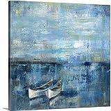 "Two Boats Canvas Wall Art Print, 24""x24""x1.25"""