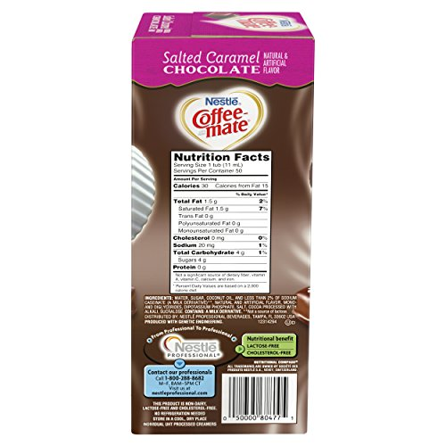 NESTLE COFFEE-MATE Coffee Creamer, Salted Caramel Chocolate, liquid creamer singles, 50 Count, Pack of 4 by Nestle Coffee Mate (Image #2)