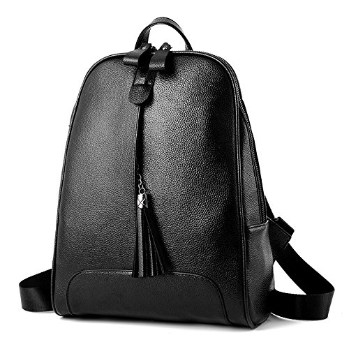 PU Loisirs ZHXUANXUAN Unie Cuir Femme Mode Black Gland Couleur Backpack Zipper 4nq0E7Sq1w