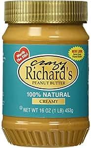 Crazy Richards 100% Natural Creamy Peanut Butter, 16 oz, 6 per Case