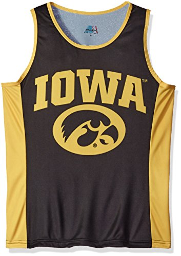 - Adrenaline Promotions NCAA Iowa Hawkeyes RUN/TRI Singlet, Black, Medium