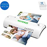 "Thermal Laminator for A4/A6, 9"" Laminating Machine with Two Roller System, Jam-Release Switch, Fast Warm-up, Quick Laminating Speed, Low Noise, for Home, Office and School, with 10 Laminating Pouches"